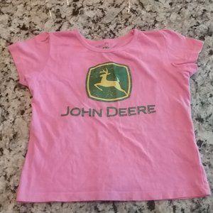 John Deere Pink/Green Glitter  T-Shirt